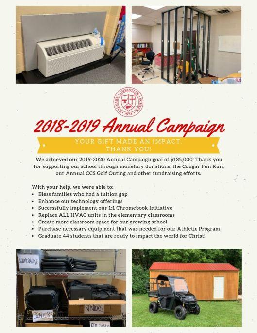 CCS 1819 Annual Campaign